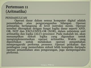 Pertemuan  11 ( Aritmatika )