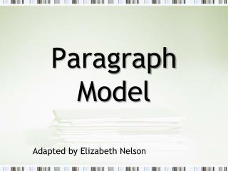 Paragraph Model