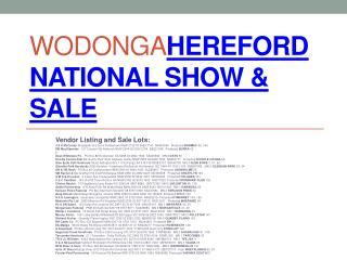 Wodonga Hereford  National Show & Sale