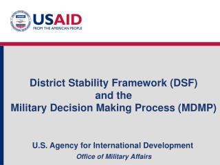 U.S. Agency for International Development Office of Military Affairs