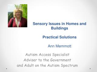 Sensory Issues in Homes and Buildings Practical Solutions  Ann Memmott