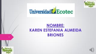 NOMBRE:  KAREN ESTEFANIA ALMEIDA BRIONES