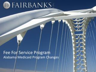 Fee For Service Program
