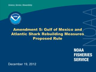 Amendment 5: Gulf of Mexico and Atlantic Shark Rebuilding Measures Proposed Rule