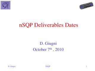 nSQP  Deliverables Dates