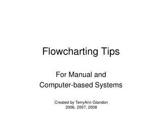 Flowcharting Tips