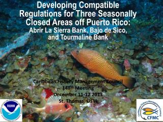 Caribbean Fishery Management Council 148 th  Meeting December 11-12 2013 St. Thomas, USVI