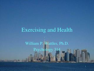 Exercising and Health