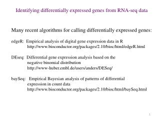 Identifying differentially expressed genes from RNA- seq  data