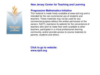 Click to go to website: www.njctl.org