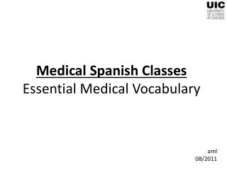 Medical Spanish Classes Essential Medical Vocabulary
