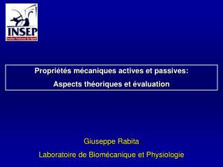 Giuseppe Rabita Laboratoire de Biomécanique et Physiologie