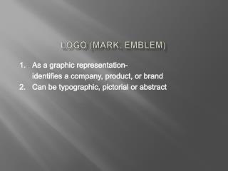 Logo (mark, emblem)