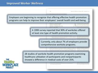 Currently , only about 7% of employers provide comprehensive  worksite  programs.
