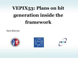 VEPIX53: Plans on hit generation inside the framework