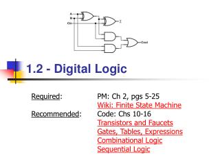 1.2 - Digital Logic