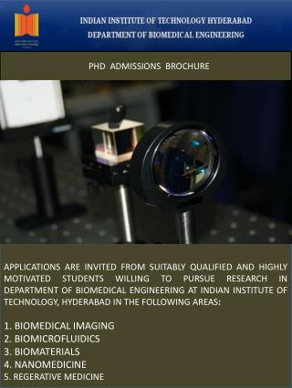 PHD   ADMISSIONS   BROCHURE