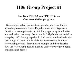 1106 Group Project #1