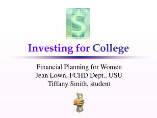 Investing for College Financial Planning for Women