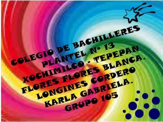 COLEGIO DE BACHILLERES PLANTEL Nº 13 XOCHIMILCO – TEPEPAN FLORES  FLORES  BLANCA.