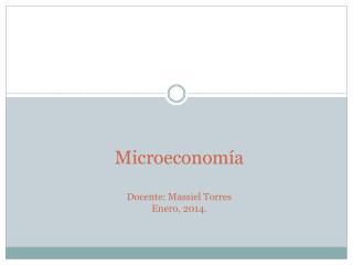 Microeconomía Docente:  Massiel  Torres Enero, 2014.