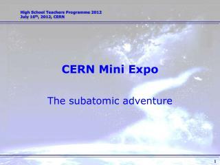 CERN Mini Expo