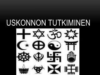 Uskonnon tutkiminen