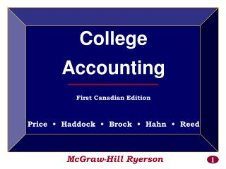 McGraw-Hill Ryerson College Accounting