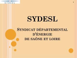 SYDESL Syndicat départemental d'énergie  de  saône  et  loire