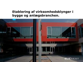 Etablering af virksomhedsklynger i bygge og anlægsbranchen.