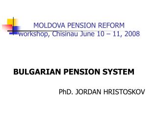 Bulgarian pension reform