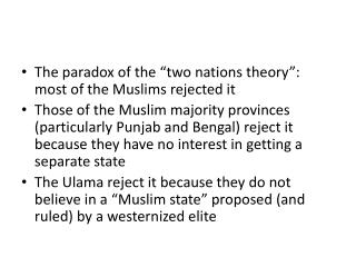 "The paradox of the ""two nations theory"": most of the  Muslims rejected it"