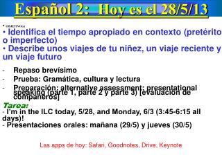 Español  2:   Hoy  es  el  28/5/13