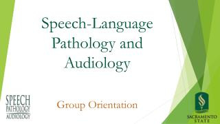 Speech-Language Pathology and Audiology