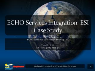 ECHO Services Integration   ESI Case Study