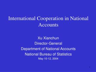 International Cooperation in National Accounts