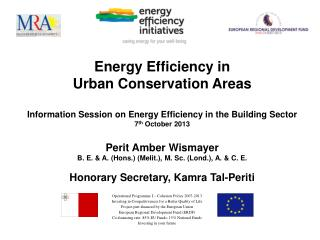 Energy Efficiency in  Urban Conservation Areas
