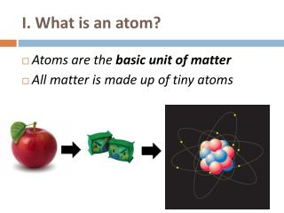 I. What is an atom?