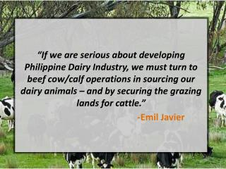 Developing the Local Dairy Industry
