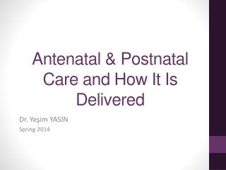 Antenatal  &  Postnatal Care and How It Is Delivered