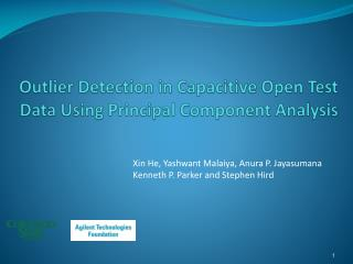 Outlier Detection in Capacitive Open Test Data Using Principal Component Analysis