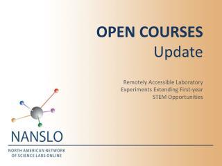 Open Courses Update