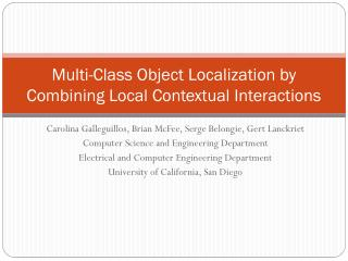 Multi-Class Object Localization by Combining Local Contextual Interactions