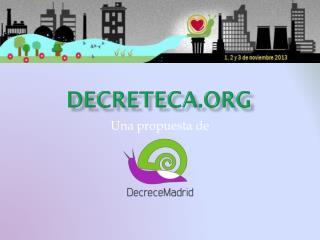 DECRETECA.ORG