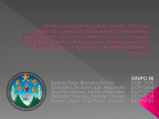 GRUPO 5B Solares Silva, Bethany Zahira 200817270 Gonzales De León, Luis Alejandro 200910684