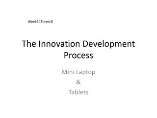 The Innovation Development Process
