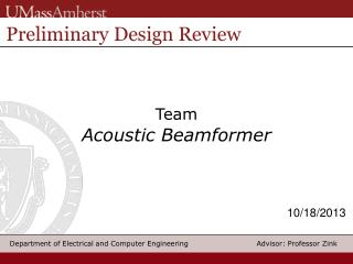 Team Acoustic  Beamformer