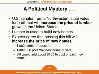A Political Mystery . . .