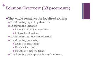 Solution Overview (LR procedure)