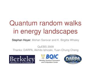 Quantum random walks in energy landscapes